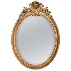 Chippendale Period Oval Mirror | From a unique collection of antique and modern wall mirrors at https://www.1stdibs.com/furniture/mirrors/wall-mirrors/