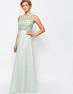Image 1 of Coast Justina Embellished Maxi Dress in Mint
