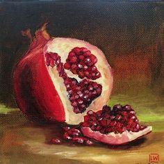 "Pomegranate by LaRhee Webster Oil ~ 6"" x 6"""