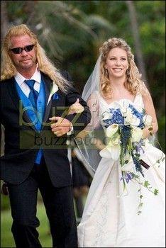 Lyssa Chapman with dad, Dog Chapman on her wedding day.