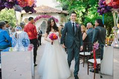 Peach, Pink, & Purple Wedding at Rancho Las Lomas with Elevated Pulse | Anika London Photography
