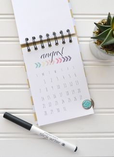 2016 Printable Calendar by Aly Dosdall using the Cinch from We R Memory Keepers