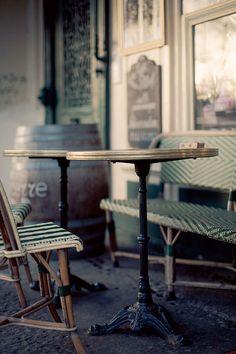tables at a paris sidewalk café   travel photography #restaurants
