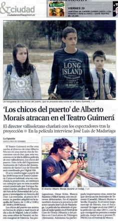 La noticia de la cuarta sesión de 'Encuentros con el cine' en La Opinión de Tenerife. 19/06/2014.