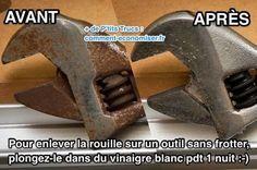 Outils Rouillés : L'Astuce Efficace Pour Enlever la Rouille SANS FROTTER.