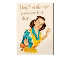 Placa Decorativa Poison Your Food - 20X29cm | Westwing - Casa & Decoração
