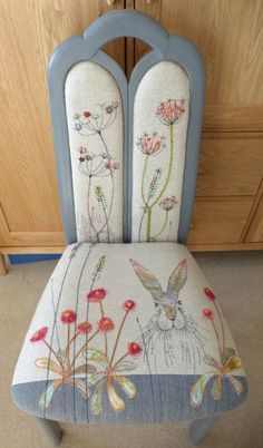 Chair Hare design arched back sold £290 #UpholsteredChair