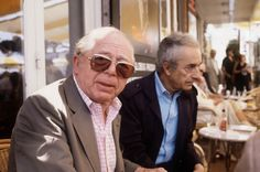 Billy Wilder and Michelangelo Antonioni. Cannes 1982.