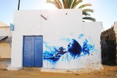 Dan23 (France) #streetart #erriadh #djerba #tunisia #acrylic #spray
