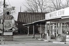 The White Cow on N. High St. The business closed up and the structure no longer stands.