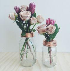 Cute arrangement #rustic #floral #flowers #roses #valentines