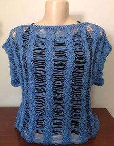 Receita de Tricô: Blusa Valdelice em tricô - por Vitória Quintal