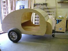 If you don't have the time or skills to build a teardrop trailer from scratch, you can build one from a kit. Oregon Trail'R of Eugene sells precut walls, floors and other teardrop parts for their FronTear kit.
