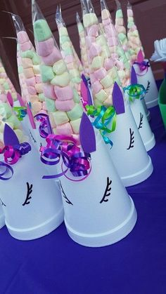 Cute idea for little girl's birthday party. Marshmallows and Unicorns Party Favors. Cute idea for little girl's birthday party. Marshmallows and Unicorns Unicorn Birthday Parties, 8th Birthday, Birthday Party Decorations, Birthday Parties For Girls, Unicorn Party Favours, Decoration Party, Diy Unicorn Birthday Party, Tea Party For Kids, Unicorn Party Decor