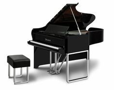 A piano designed in partnership with Audi? Looks amazing to me. Music to My Eyes: Modern Piano by Audi Bosendorfer Piano, The Piano, Piano Bench, Piano Music, Piano Room, Piano Keys, Audi Design, Design Studio, Piano Lessons