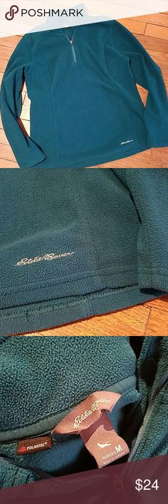 EDDIE BAUER polartec fleece half zip M teal EDDIE BAUER polartec fleece half zip M teal in excellent condition. Stock photo added for fit reference only. Eddie Bauer Tops