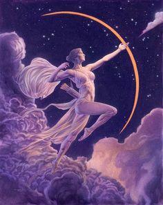 Artemis Art, Artemis Goddess, Artemis Tattoo, Greek Mythology Gods, Greek Gods And Goddesses, Roman Mythology, Greek Goddess Art, Greek Art, Hunter Of Artemis