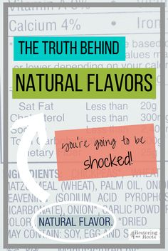 What Exactly are Natural Flavors