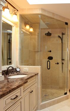 Wood tile shower contemporary bathroom dallas by for Bathroom remodel 85382