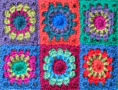 Ravelry: Alpacalicious - not your everyday granny-square crochet blanket pattern by Prudence Mapstone