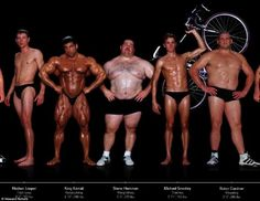 Different body shapes of the various types of elite athletes