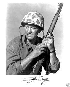 SANDS OF IWO JIMA (1949) - John Wayne as 'Sergeant Stryker' - Directed by Allan Dwan - Republic Pictures.