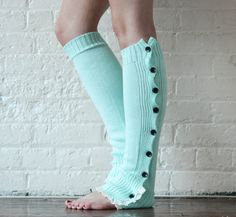 Leg Warmers Mint Leg Warmers Boot Toppers Gift by PROJECTDAHLIA, $28.00 cuuuuuuuuute leg warmers!
