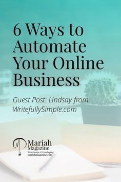 Here are 6 ways on how to automate your online #business!