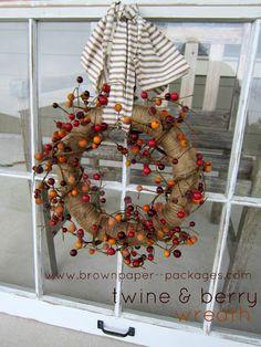 {twine & berry wreath}