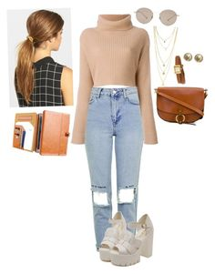 """""""Casual Fall Outfit"""" by the-ravenclaw-princes ❤ liked on Polyvore featuring Topshop, Ficcare, Gucci, Chloé and Chanel"""