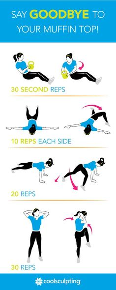 Try this challenging core workout to say goodbye to your muffin top! If it's too easy, add a set of burpees; then repeat.