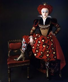 Helena Bonham Carter, Queen of Hearts in Alice in Wonderland.