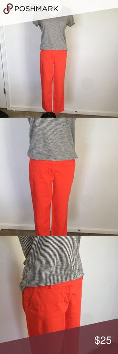 J. Crew City Fit crop Pants Vintage J. Crew city fit Cropped pants. In a vibrant orange. Size 2.  🔹smoke free home 🔹cat friendly home  🔹offers welcome 🚫 trades J. Crew Pants Ankle & Cropped