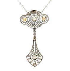 Lot: Belle Époque pearls and diamonds pendant, circa 1910, Lot Number: 0025, Starting Bid: €350, Auctioneer: Balclis, Auction: Jewellery, Antiques & Fine Art Auction, Date: March 15th, 2018 EDT
