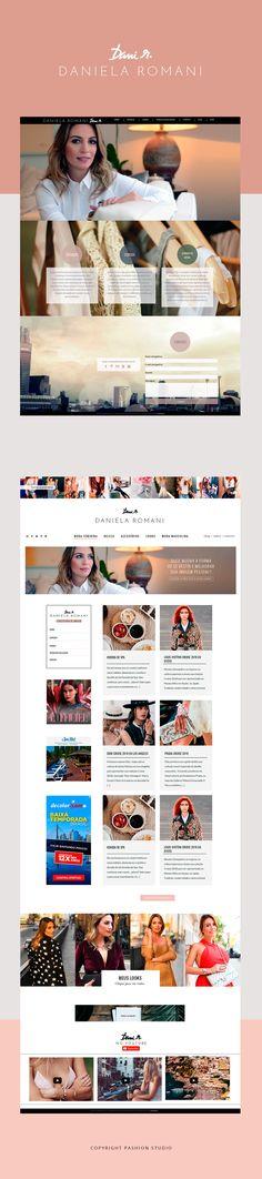 Criação de site, blog e designs para consultora de imagem Daniela Romani por Pashion Studio