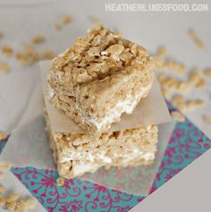 Ultimate Rice Krispie Treats... Oh, God. Yes. Who would've thought that you could improve on the Rice Krispie treats and keep the (superior) original flavor?!