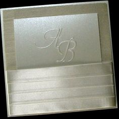 Wedding invitations Boxed Couture Satin Ribbon by JustEmbossed, $830.00
