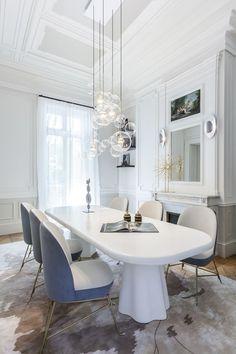 Apartamento delineado por curvas em Paris (Foto: Mathieu Fiol / divulgação)
