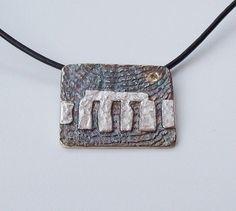 Stonehenge Tablet Pendant Sterling Silver £130.00