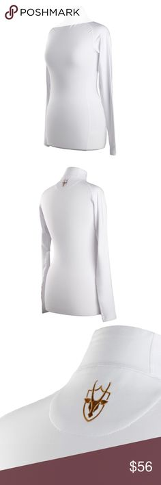 Coates Golf White Cuff Neck 90% Polyester, 10% Spandex. Worn under other pieces for added protection from the elements or as a stand alone garment. The material is incredibly soft and adds a cozy layer of warmth, while still being flexible, elastic, and nonrestrictive during play. Mid-weight, see-through safe. Coates logo embroidery on back of neck. Fitting is slim and for shaping. Sizing up is recommended. Ask me how to get free shipping and 10% off! Coates Golf Tops Tees - Long Sleeve