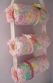Resultado de imagem para organizador de presilhas flores - Ideas para colgar diademas ...