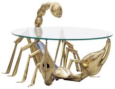 Playfully Elegant Tables Supported by Larger-Than-Life Crustaceans and Arachnids - My Modern Met
