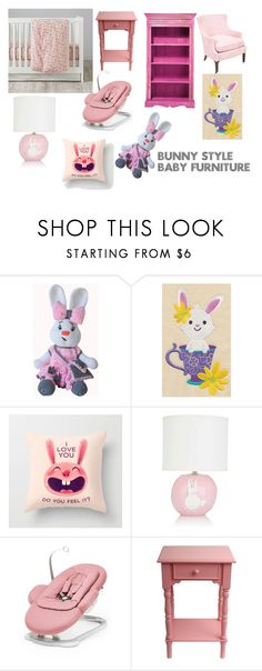 """""""Bunny Style Baby Furniture"""" by mymess07 ❤ liked on Polyvore featuring Alex Marshall Studios, Stokke and J. Hunt"""