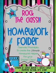 Rock the Class!!! Make your own homework folders