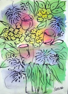 Watercolor Flowers, see exhibit from 2009 for more
