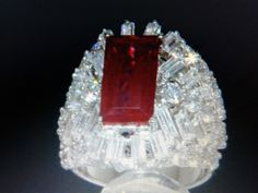 WOMENS  DESIGNER PLATINUM & SS REAL RUBY & LCS DIAMOND RING SZ 5 6 7 8 9 10 #EXCEPTIONALBUY #SolitairewithAccents