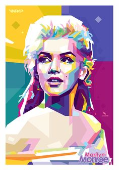 Marilyn Monroe WPAP by opparudy - vector drawing -  / This image first pinned to Marilyn Monroe art board here: https://www.pinterest.com/fairbanksgrafix/marilyn-monroe-art/ #Art #MarilynMonroe