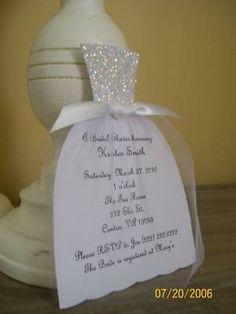 wedding dress invite