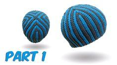 Slip stitch crochet. bosnian crochet - Hazelnut Beanie english version part 1