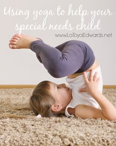 Have you tried yoga workouts  for your special needs kids? The different yoga poses are a great way to help them relax, calm down and focus.  My son had a lot of fun making up his own pose, come check it out!